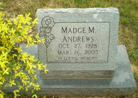 ANDREWS, MADGE M - Craighead County, Arkansas | MADGE M ANDREWS - Arkansas Gravestone Photos