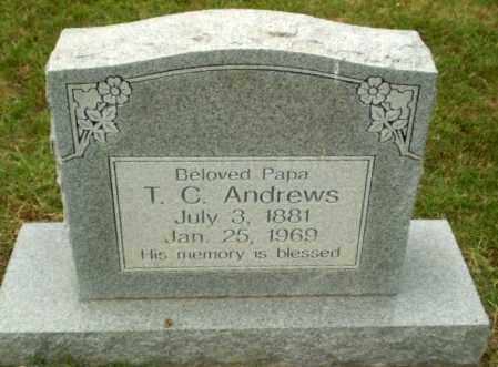 ANDREWS, T.C. - Craighead County, Arkansas | T.C. ANDREWS - Arkansas Gravestone Photos