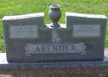 ARENDER, CLAUDE W. - Craighead County, Arkansas | CLAUDE W. ARENDER - Arkansas Gravestone Photos