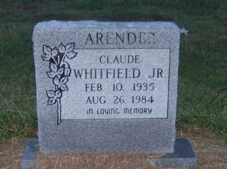 ARENDER, JR, CLAUDE WHITFIELD - Craighead County, Arkansas | CLAUDE WHITFIELD ARENDER, JR - Arkansas Gravestone Photos