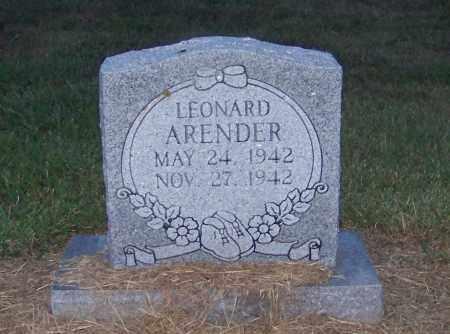 ARENDER, LEONARD - Craighead County, Arkansas | LEONARD ARENDER - Arkansas Gravestone Photos