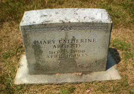 ARGEND, MARY KATHERINE - Craighead County, Arkansas | MARY KATHERINE ARGEND - Arkansas Gravestone Photos