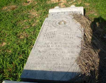 ARRINGTON, ASA B - Craighead County, Arkansas   ASA B ARRINGTON - Arkansas Gravestone Photos
