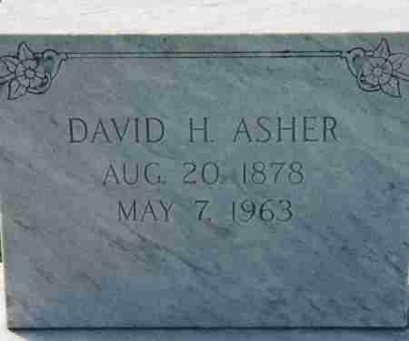 ASHER, DAVID H - Craighead County, Arkansas | DAVID H ASHER - Arkansas Gravestone Photos