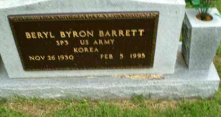BARRETT  (VETERAN KOR), BERYL BYRON - Craighead County, Arkansas | BERYL BYRON BARRETT  (VETERAN KOR) - Arkansas Gravestone Photos