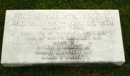 NUNN BARRETT, OLIVE - Craighead County, Arkansas | OLIVE NUNN BARRETT - Arkansas Gravestone Photos