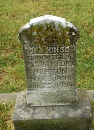 BARTON, DORA HINSON - Craighead County, Arkansas | DORA HINSON BARTON - Arkansas Gravestone Photos