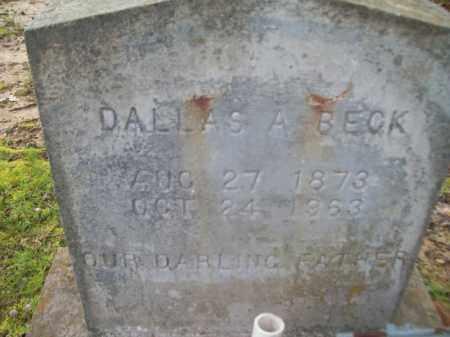 BECK, DALLAS AARON - Craighead County, Arkansas   DALLAS AARON BECK - Arkansas Gravestone Photos