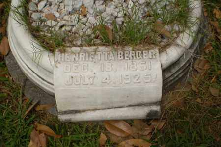 BERGER, HENRIETTA - Craighead County, Arkansas | HENRIETTA BERGER - Arkansas Gravestone Photos
