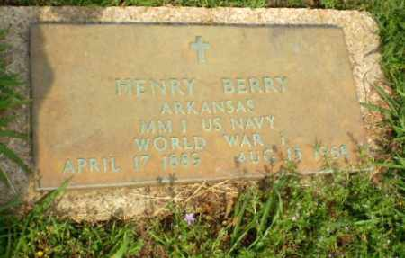 BERRY (VETERAN WWI), HENRY - Craighead County, Arkansas | HENRY BERRY (VETERAN WWI) - Arkansas Gravestone Photos