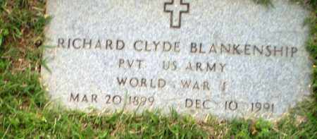 BLANKENSHIP  (VETERAN WWI), RICHARD CLYDE - Craighead County, Arkansas | RICHARD CLYDE BLANKENSHIP  (VETERAN WWI) - Arkansas Gravestone Photos