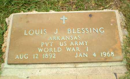 BLESSING  (VETERAN WWI), LOUIS J - Craighead County, Arkansas | LOUIS J BLESSING  (VETERAN WWI) - Arkansas Gravestone Photos