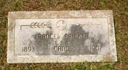 BRICKER, FRANCES - Craighead County, Arkansas | FRANCES BRICKER - Arkansas Gravestone Photos