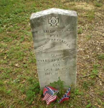 BROADAWAY  (VETERAN CSA), JESSE C - Craighead County, Arkansas | JESSE C BROADAWAY  (VETERAN CSA) - Arkansas Gravestone Photos