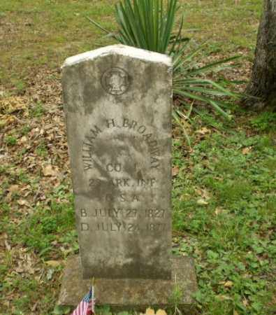 BROADAWAY  (VETERAN CSA), WILLIAM H - Craighead County, Arkansas | WILLIAM H BROADAWAY  (VETERAN CSA) - Arkansas Gravestone Photos