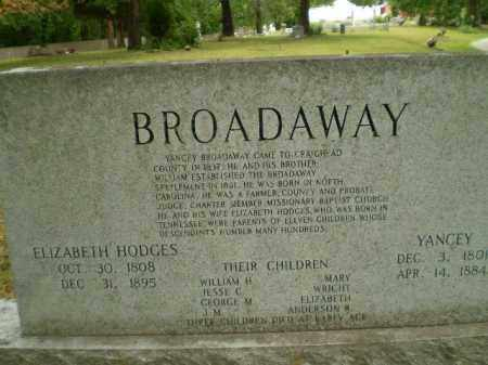 BROADAWAY, YANCEY - Craighead County, Arkansas | YANCEY BROADAWAY - Arkansas Gravestone Photos