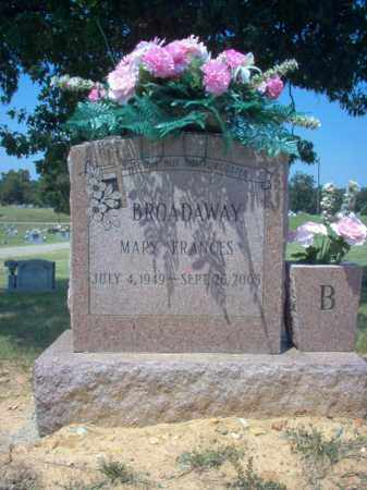 BROADAWAY, MARY FRANCES - Craighead County, Arkansas | MARY FRANCES BROADAWAY - Arkansas Gravestone Photos