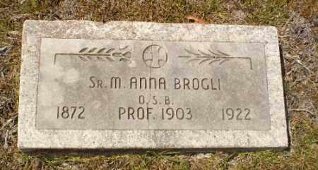 BROGLI, SISTER M. ANNA - Craighead County, Arkansas   SISTER M. ANNA BROGLI - Arkansas Gravestone Photos