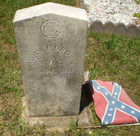 BROWN  (VETERAN CSA), JOHN P - Craighead County, Arkansas | JOHN P BROWN  (VETERAN CSA) - Arkansas Gravestone Photos