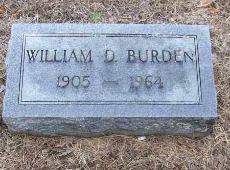 BURDEN, WILLIAM D. - Craighead County, Arkansas | WILLIAM D. BURDEN - Arkansas Gravestone Photos