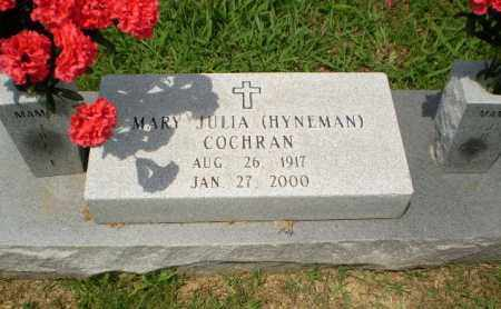 HYNEMAN COCHRAN, MARY JULIA - Craighead County, Arkansas | MARY JULIA HYNEMAN COCHRAN - Arkansas Gravestone Photos