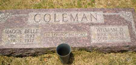 COLEMAN, MAGGIE BELLE - Craighead County, Arkansas | MAGGIE BELLE COLEMAN - Arkansas Gravestone Photos