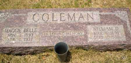 COLEMAN, WILLIAM D - Craighead County, Arkansas | WILLIAM D COLEMAN - Arkansas Gravestone Photos