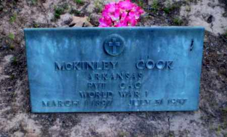 COOK   (VETERAN WWI), MCKINLEY - Craighead County, Arkansas | MCKINLEY COOK   (VETERAN WWI) - Arkansas Gravestone Photos