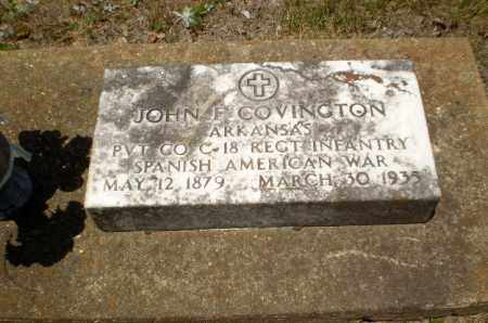 COVINGTON  (VETERAN SAW), JOHN F - Craighead County, Arkansas | JOHN F COVINGTON  (VETERAN SAW) - Arkansas Gravestone Photos