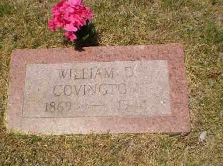 COVINGTON, WILLIAM D - Craighead County, Arkansas | WILLIAM D COVINGTON - Arkansas Gravestone Photos
