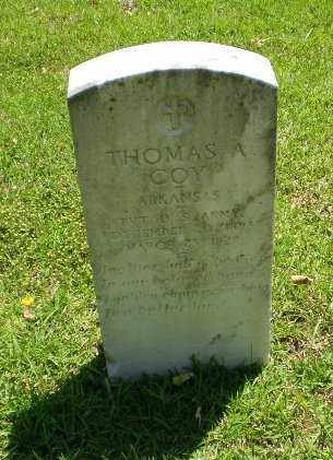 COY (VETERAN), THOMAS A. - Craighead County, Arkansas | THOMAS A. COY (VETERAN) - Arkansas Gravestone Photos