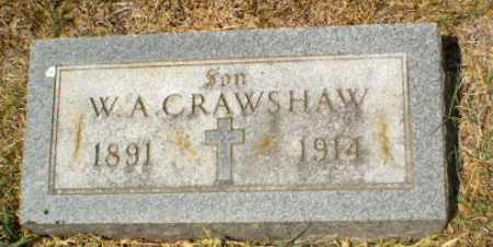 CRAWSHAW, W.A. - Craighead County, Arkansas | W.A. CRAWSHAW - Arkansas Gravestone Photos