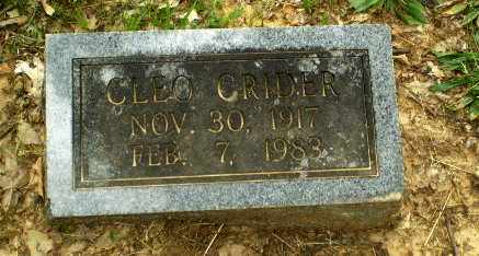 CRIDER, CLEO - Craighead County, Arkansas | CLEO CRIDER - Arkansas Gravestone Photos