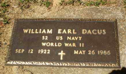 DACUS  (VETERAN WWII), WILLIAM EARL - Craighead County, Arkansas | WILLIAM EARL DACUS  (VETERAN WWII) - Arkansas Gravestone Photos