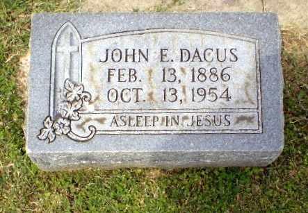 DACUS, JOHN E - Craighead County, Arkansas | JOHN E DACUS - Arkansas Gravestone Photos