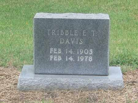 DAVIS, TRIBBLE E.T. - Craighead County, Arkansas | TRIBBLE E.T. DAVIS - Arkansas Gravestone Photos
