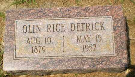 DETRICK, OLIN RICE - Craighead County, Arkansas | OLIN RICE DETRICK - Arkansas Gravestone Photos
