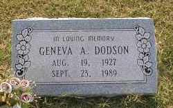 DODSON, GENEVA A. - Craighead County, Arkansas | GENEVA A. DODSON - Arkansas Gravestone Photos
