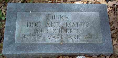 "REED DUKE, MARTHA ELLEN ""MATTIE"" - Craighead County, Arkansas 