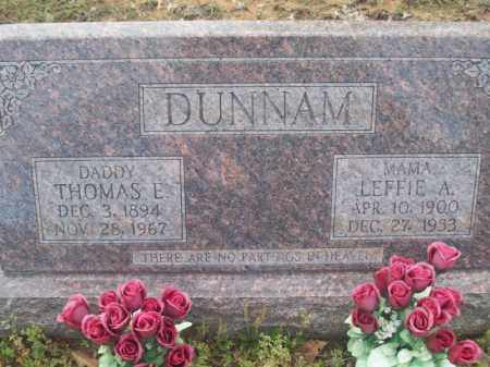DUNNAM, THOMAS ELMER - Craighead County, Arkansas | THOMAS ELMER DUNNAM - Arkansas Gravestone Photos