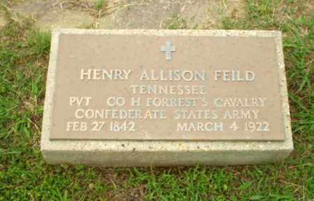 FIELD  (VETERAN CSA), HENRY ALLISON - Craighead County, Arkansas | HENRY ALLISON FIELD  (VETERAN CSA) - Arkansas Gravestone Photos