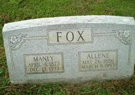 FOX, MANLY - Craighead County, Arkansas | MANLY FOX - Arkansas Gravestone Photos