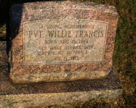 FRANCIS  (VETERAN WWI), WILLIE - Craighead County, Arkansas | WILLIE FRANCIS  (VETERAN WWI) - Arkansas Gravestone Photos