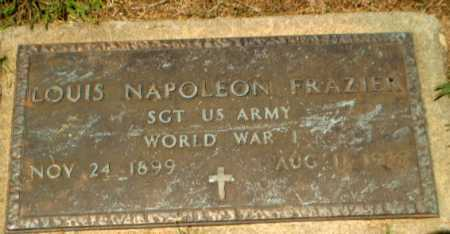 FRAZIER  (VETERAN WWI), LOUIS NAPOLEON - Craighead County, Arkansas | LOUIS NAPOLEON FRAZIER  (VETERAN WWI) - Arkansas Gravestone Photos