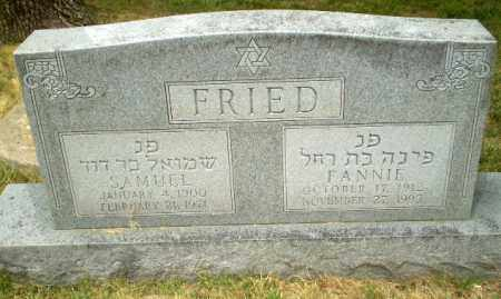 FRIED, FANNIE - Craighead County, Arkansas | FANNIE FRIED - Arkansas Gravestone Photos