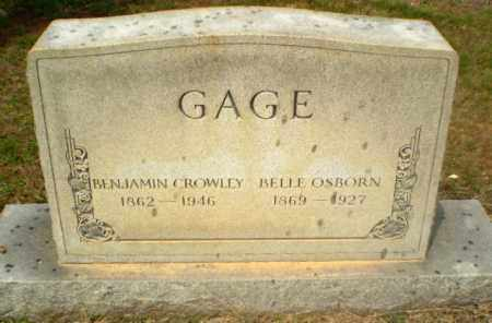 OSBORN GAGE, BELLE - Craighead County, Arkansas | BELLE OSBORN GAGE - Arkansas Gravestone Photos