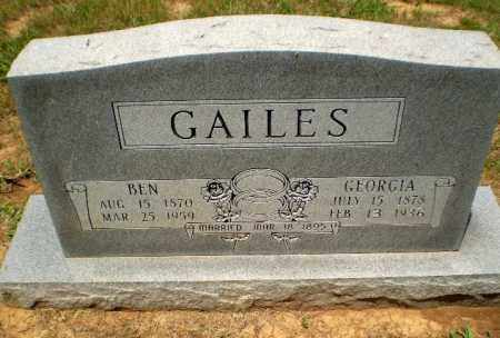 GAILES, GEORGIA - Craighead County, Arkansas | GEORGIA GAILES - Arkansas Gravestone Photos