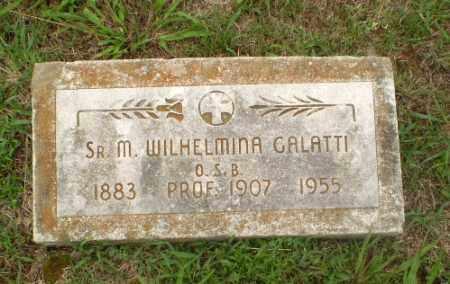 GALATTI, SISTER M. WILHELMINA - Craighead County, Arkansas | SISTER M. WILHELMINA GALATTI - Arkansas Gravestone Photos