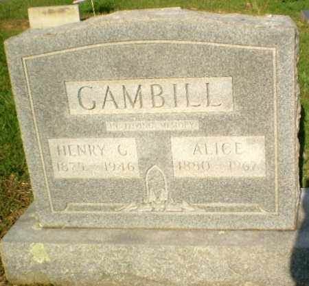 GAMBILL, ALICE - Craighead County, Arkansas | ALICE GAMBILL - Arkansas Gravestone Photos