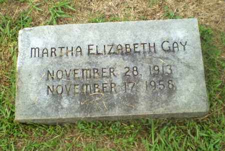GAY, MARTHA ELIZABETH - Craighead County, Arkansas | MARTHA ELIZABETH GAY - Arkansas Gravestone Photos